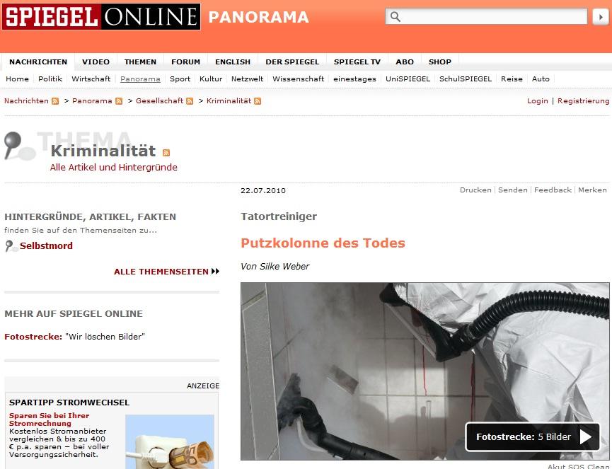 Tatort-spiegel in Presse